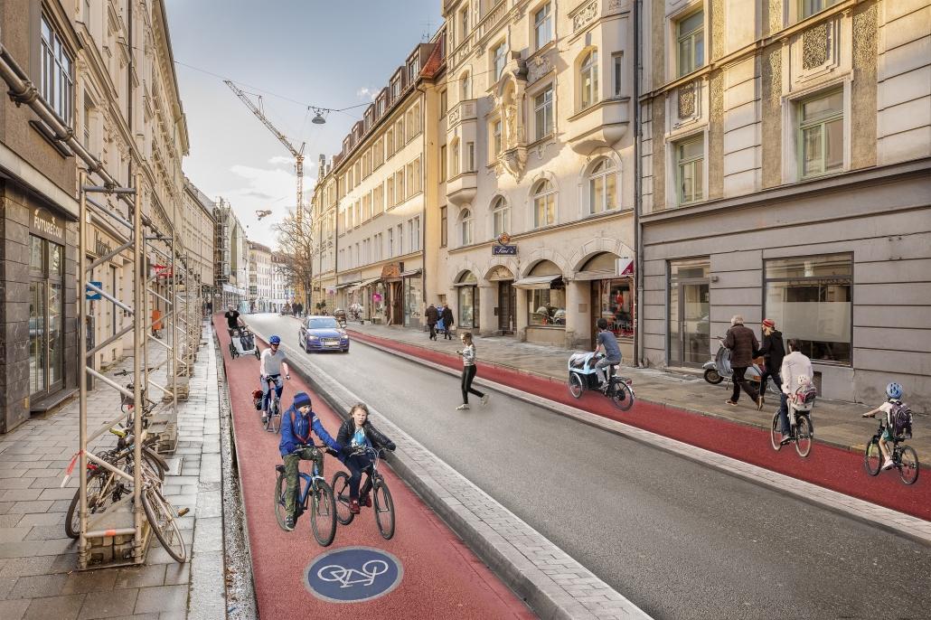 Altstadt-Radlring Frauenstr nachher